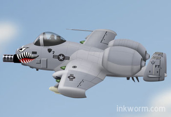 Cartoon A10 Warthog