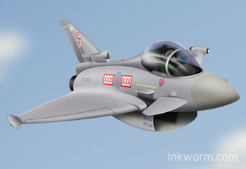 Cartoon Eurofighter Typhoon