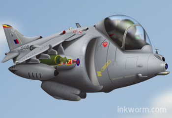 Cartoon Harrier GR9a