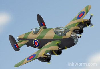 Cartoon Lancaster Bomber