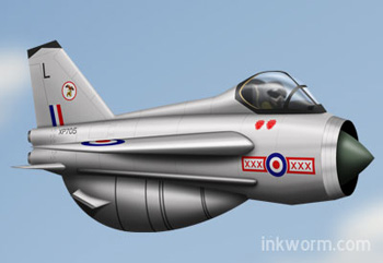 Cartoon English Electric Lightning