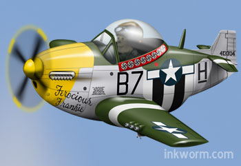 Cartoon P51 Mustang