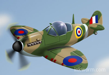 Cartoon Spitfire